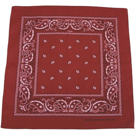 MFH Bandana Cotton Burgundy