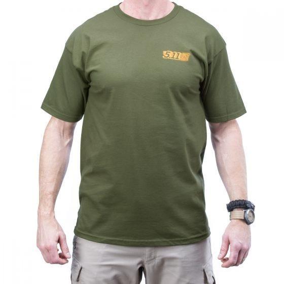 5.11 Red Scope Logo T-Shirt OD Green
