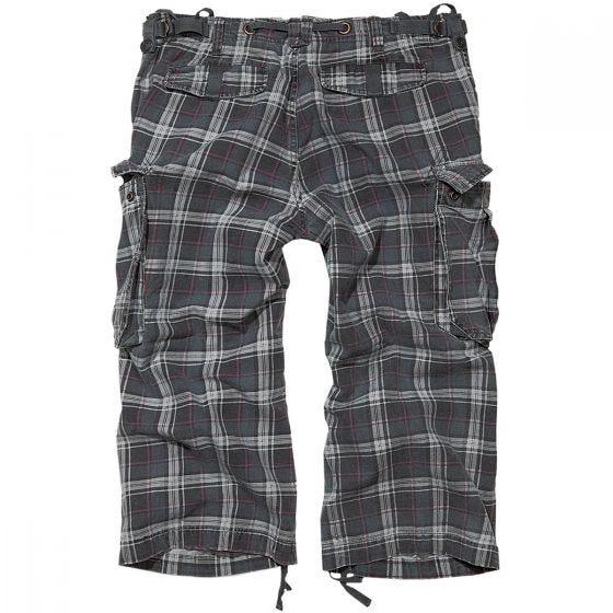 Brandit Industry Vintage 3/4 Shorts Dark Grey / Purple