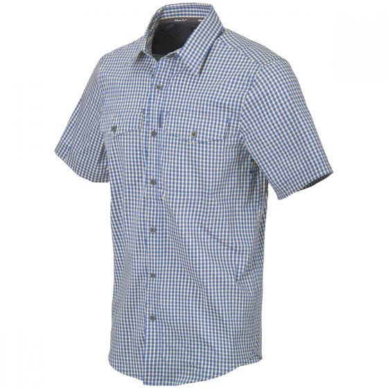 Helikon Covert Concealed Carry Short Sleeve Shirt Royal Blue Checkered