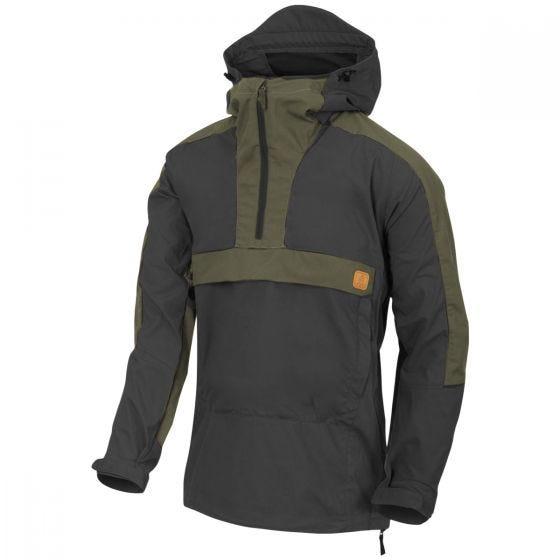 Helikon Woodsman Anorak Jacket Black / Taiga Green