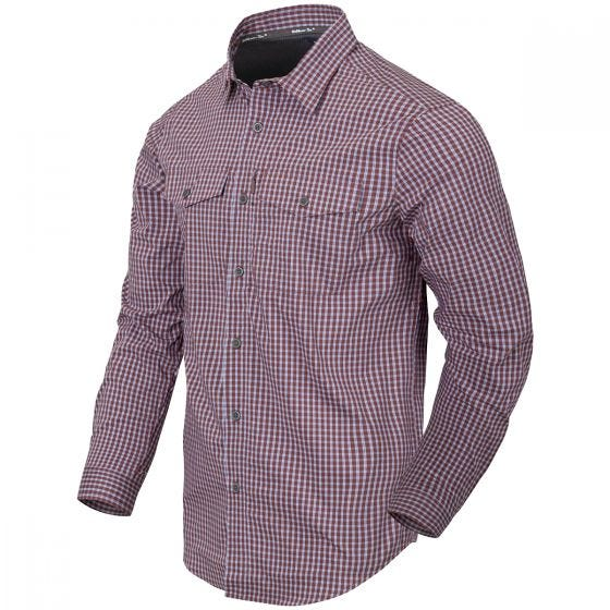 Helikon Covert Concealed Carry Shirt Scarlet Flame Checkered