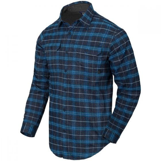 Helikon GreyMan Shirt Blue Stonework Plaid