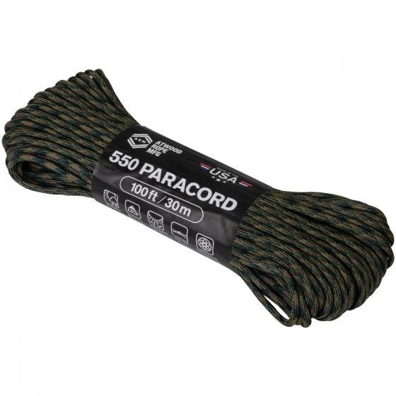 Atwood Rope 100ft 550 Paracord Woodland