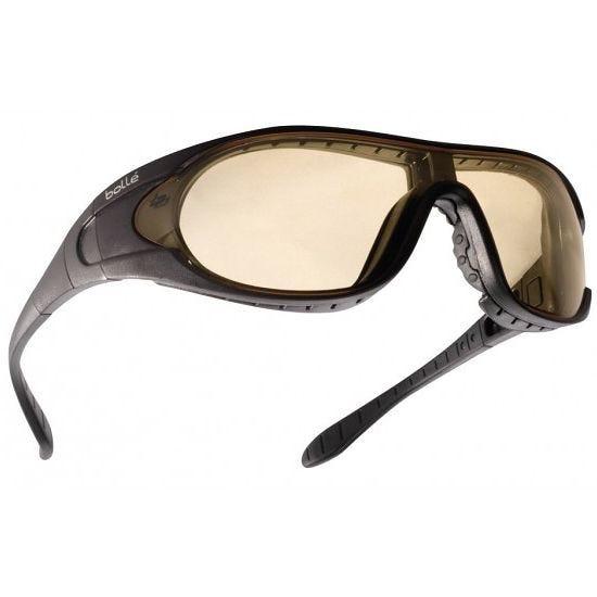Bolle Raider Ballistic Spectacles - Clear + Smoke + Yellow Lens / Black Frame