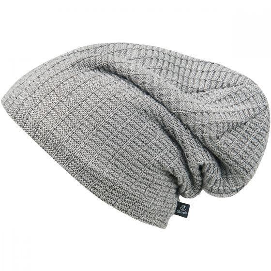 Brandit Beanie John Ajour Knitted Silver Grey Melange