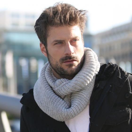 Brandit Scarf Loop Knitted Taupe