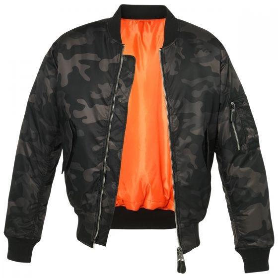 Brandit MA1 Camo Jacket Dark Camo