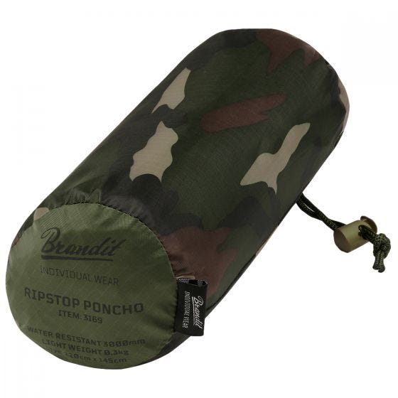 Brandit Ripstop Poncho Woodland