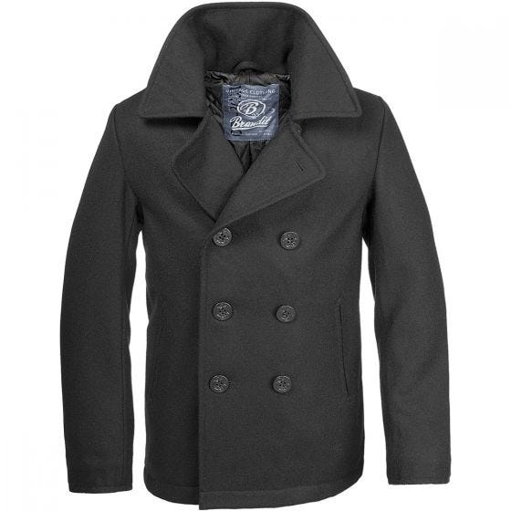 Brandit Pea Coat Black