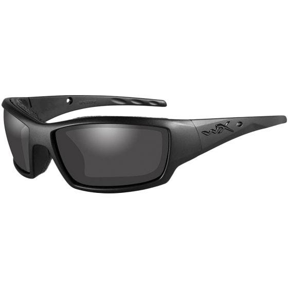 Wiley X WX Tide Glasses - Smoke Grey Lens / Black Ops Matte Black Frame