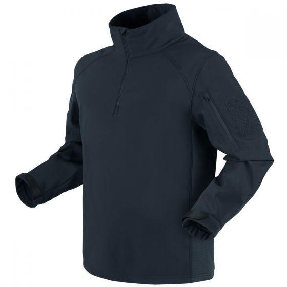 Condor Patrol 1/4 Zip Softshell Jacket Navy Blue