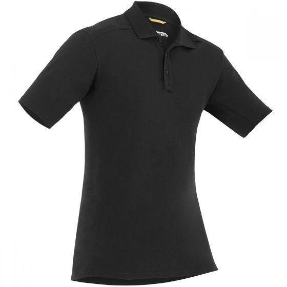 First Tactical Men's Cotton Short Sleeve Polo with Pen Pocket Black