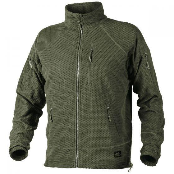Helikon Alpha Tactical Grid Fleece Jacket Olive Green
