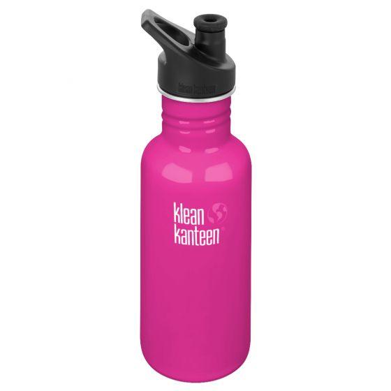 Klean Kanteen Classic 532ml Bottle with Sport Cap 3.0 Wild Orchid