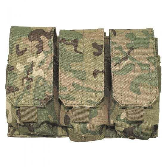 MFH Triple M4/M16 Magazine Pouch MOLLE Operation Camo