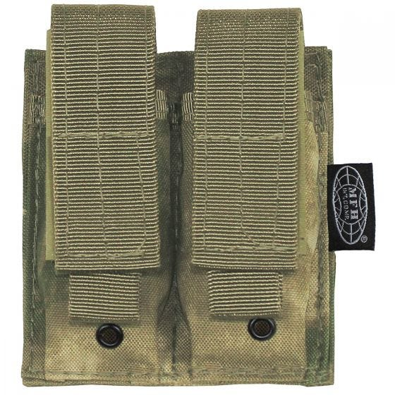 MFH Double 9mm Magazine Pouch Small MOLLE HDT Camo FG