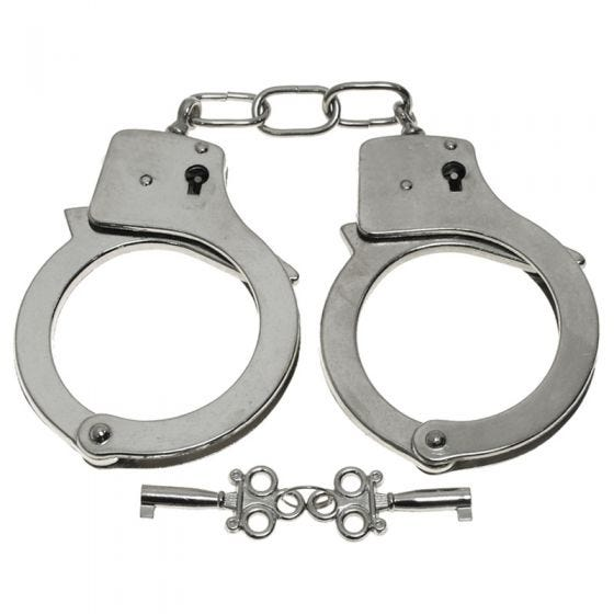 MFH Metal Handcuffs with Chrome Finish