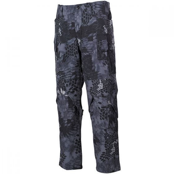 MFH Mission Combat Trousers Ripstop Snake Black