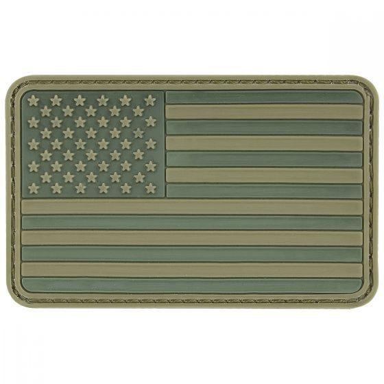 MFH USA 3D Velcro Flag Patch Olive