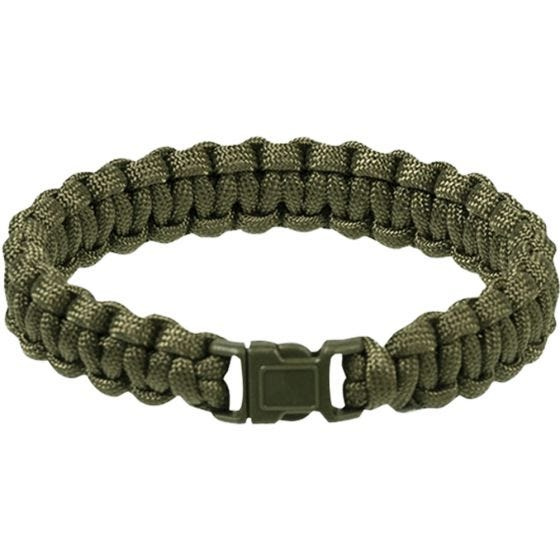 Mil-Tec Paracord Wrist Band 15mm Olive