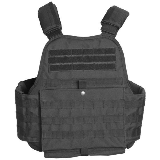 Mil-Tec Plate Carrier Vest Black