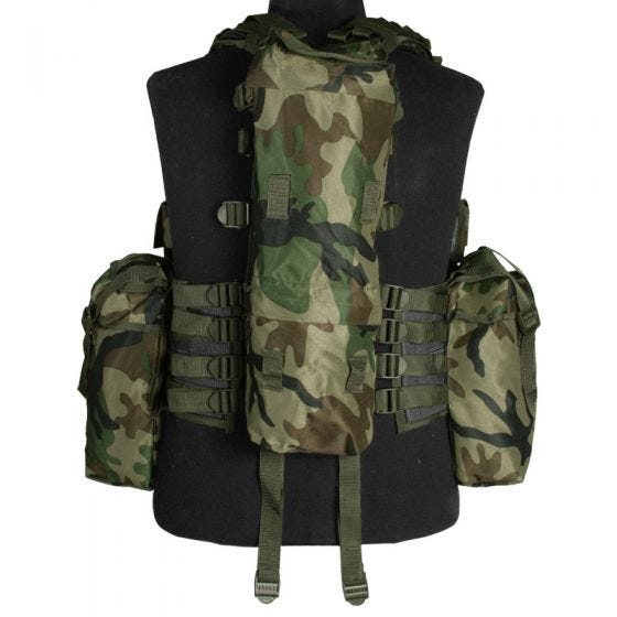 Mil-Tec South African Assault Vest Woodland