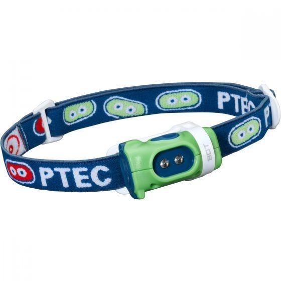 Princeton Tec Bot Headlamp White LED Green/Blue Case