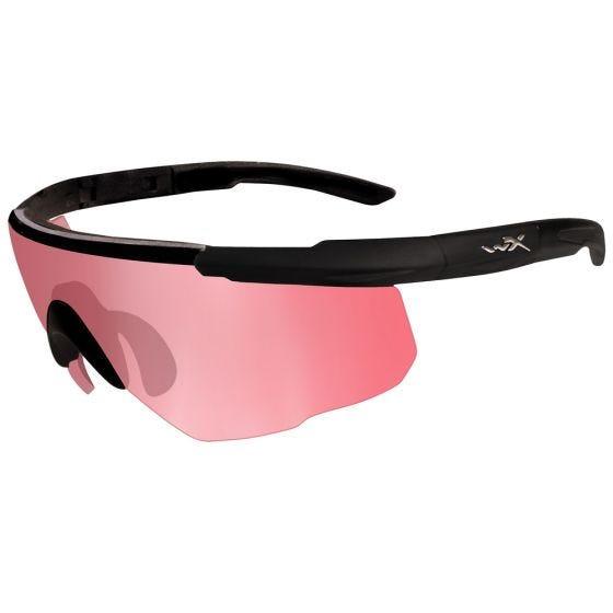 Wiley X Saber Advanced Glasses - Vermillion Lens / Matte Black Frame