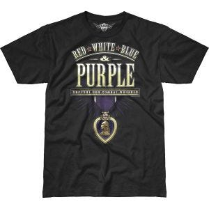 7.62 Design Combat Wounded Purple Heart Battlespace T-Shirt Black