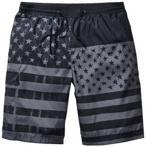 Brandit Swimshorts Black / Stars & Stripes
