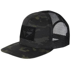 Condor Flat Bill Trucker Cap MultiCam Black