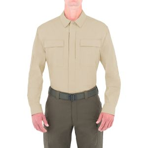 First Tactical Men's Tactix Long Sleeve BDU Shirt Khaki