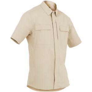 First Tactical Men's Tactix Short Sleeve BDU Shirt Khaki