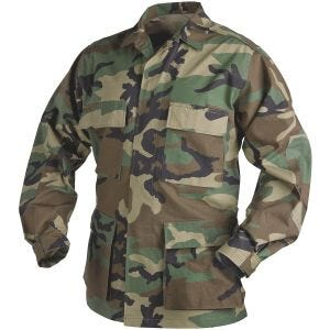Helikon Genuine BDU Shirt Polycotton Ripstop Woodland