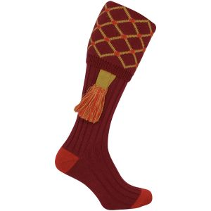 Jack Pyke Diamond Shooting Socks Burgundy