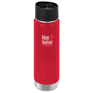 Klean Kanteen Wide Mouth Insulated 592ml Bottle Cafe Cap 2.0 Mineral Red