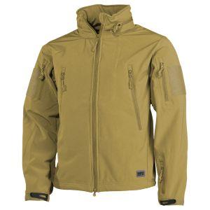 MFH Scorpion Soft Shell Jacket Coyote Tan