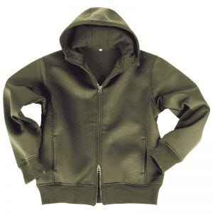 Mil-Tec Neoprene Jacket with Fleece Lining Olive