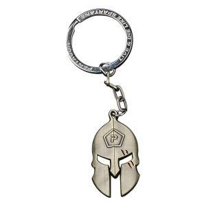 Pentagon Spartan Keyring Antique Brass