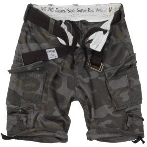 Surplus Division Shorts Black Camo