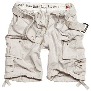 Surplus Division Shorts White