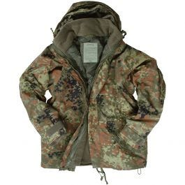 47864aa71a6c6 Mil-Tec ECWCS Jacket with Fleece Flecktarn