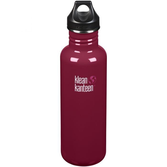 Klean Kanteen Classic 800ml Bottle Loop Cap Damson