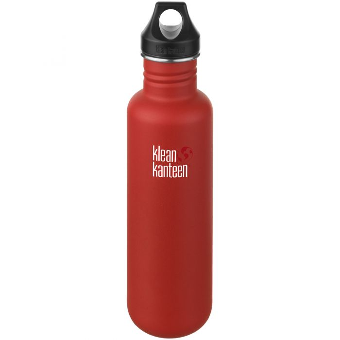 Klean Kanteen Classic 800ml Bottle Loop Cap Post Box Red
