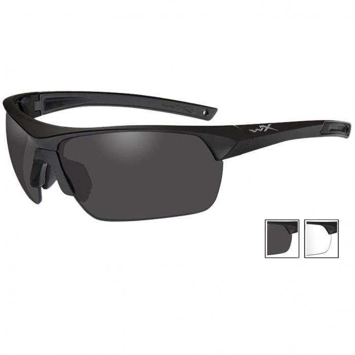 Wiley X Guard Advanced - Smoke Grey + Clear Lenses / Matte Black Frame
