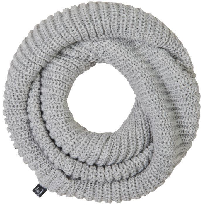 Brandit Scarf Loop Knitted Silver Grey Melange