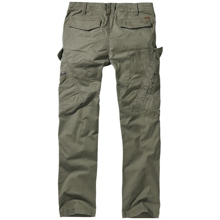 Brandit Adven Slim Fit Trousers Olive