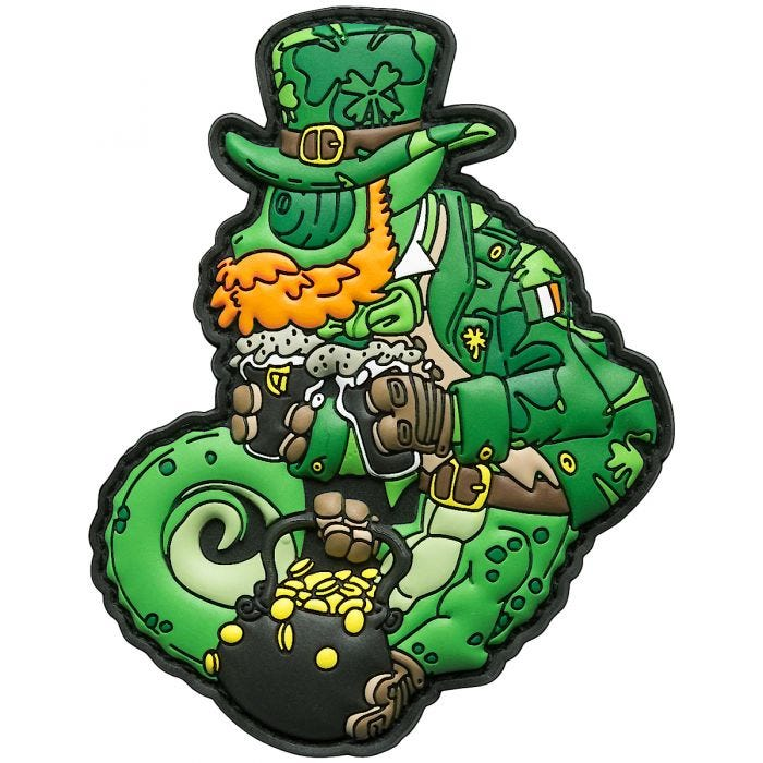 Patchlab Chameleon St. Patrick Patch Green