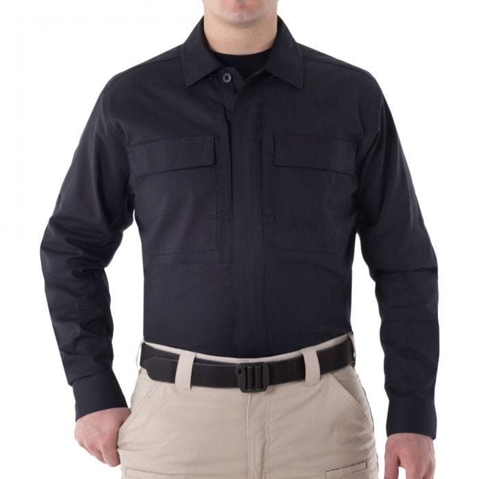 First Tactical Men's V2 Long Sleeve BDU Shirt Midnight Navy